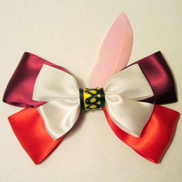 Captain Hook Hair Bow Peter Pan Disney Inspired