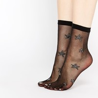 ASOS Metallic Star Sheer Socks