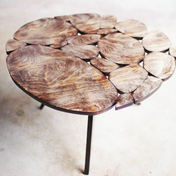 Modern Coffee Table Reclaimed Plywood Small Size