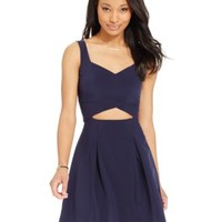 B Darlin Juniors' Cutout Fit & Flare Dress | macys.com