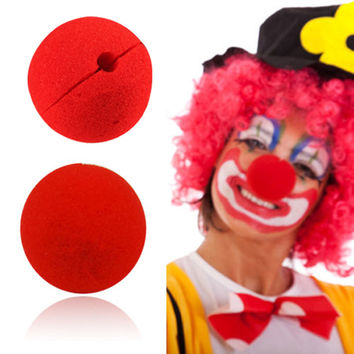 10 Pcs/lot Wedding Decoration Party Sponge Ball Red Clown Magic Nose for Halloween party Masquerade  Decoration