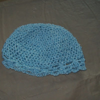 CIJ SALE Baby Hat With Scalloped Edging, Blue Color