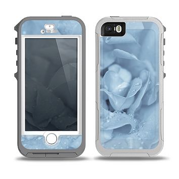 The Drenched Blue Rose Skin for the iPhone 5-5s OtterBox Preserver WaterProof Case