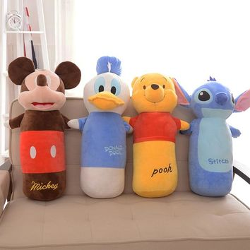 60cm Cartoon Bear Duck Mickey Mouse Cushion Pillow Plush Toys Soft Animals Stuffed Dolls Grown-up Sofa Cushions Good Quality