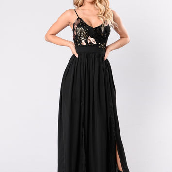 Feeling It Dress - Black