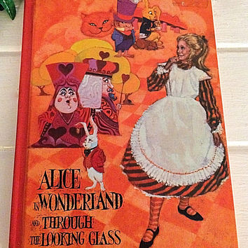 Alice in Wonderland, Wonderland, Through the looking Glass, Alice, Looking Glass, Alice Book, Wonderland Book, Lewis Carroll, Easter Gift
