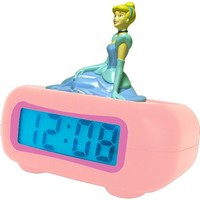 Disney Princess DC94240 LCD Alarm Clock (Pink)