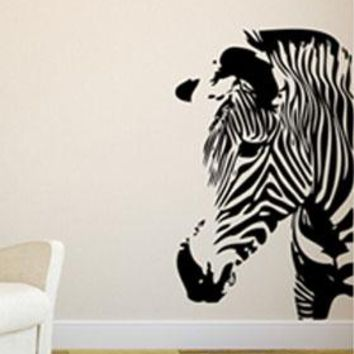 Zebra Animal Wall Sticker Home Decor Personal Design Diy Decal Cute Animal For Kids Room Fashion DIY Art Waterproof Removable