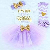 Baby Girl First 1st Birthday Party Outfit