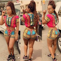 Two Piece Set Women Summer Sexy Tracksuit Beach Outfits Suit
