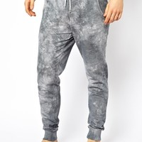 ASOS Slim Fit Lounge Sweatpants With Tie Dye at asos.com
