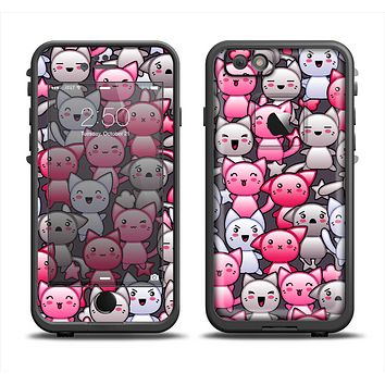 The Cute Abstract Kittens Apple iPhone 6 LifeProof Fre Case Skin Set