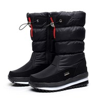 Women's boots winter shoes thick plush non-slip waterproof snow boots for women botas mujer