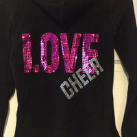 Medium Love Cheer Rib Knit Sweatshirt