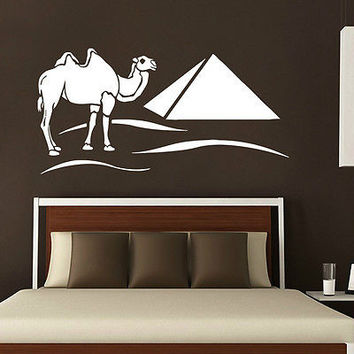 EGYPT WALL DECALS PYRAMIDS CAMEL DECAL VINYL STICKER HOME DECOR ART MURALS  N220