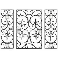Safavieh 23.6 in. Edwina Votive Wall Decor in Black WDC1009A at The Home Depot - Mobile
