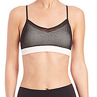 Alo Yoga - Wisteria Mesh Bra Top - Saks Fifth Avenue Mobile