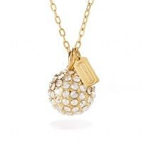 Coach :: Large Pave Ball Necklace