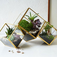 Decorative Square Glass Flower Pots