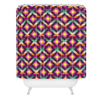 Bianca Green Aztec Diamonds Hammock Shower Curtain