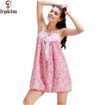 Women's Sexy Lace Nightgowns Bow Spaghetti Straps mujer Summer Floral Sleepwear Sleepshirts Women Sexy Underwear SY308