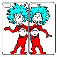 Thing 1 and thing 2 Samsung Galaxy S3 S4 S5 Note 3 4 , iPhone 4 4S 5 5s 5c 6 Plus , iPod Touch 4 5 , HTC One M7 M8 ,LG G2 G3 Couple Case