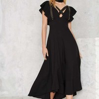 Nasty Gal Eliza Studded Maxi Dress