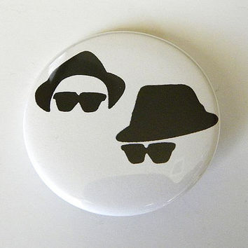 "The Blues Brothers Jake and Elwood 1.5"" Pinback Button"