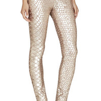 BCBG Dena Snake-Sequined Legging