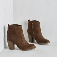 Boho Incognito Ergo Sum Bootie in Acorn by Madden Girl from ModCloth