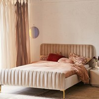 Marcella Velvet Bed | Urban Outfitters