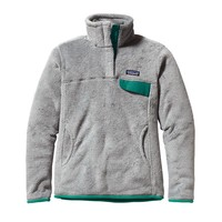 Patagonia Women's Re-Tool Snap-T® Fleece Pullover | Tailored Grey - Nickel X-Dye w/Borealis Green