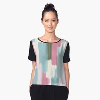 'Falling #redbubble #abstractart' Women's Chiffon Top by designdn