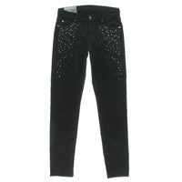 7 For All Mankind Womens Denim Embellished Cigarette Jeans