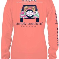"Simply Southern ""Lets Be Besties"" Top- Melon"