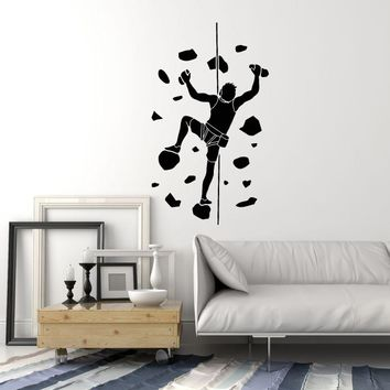 Vinyl Wall Decal Man Indoor Climbing Climber Room Decor Stickers Mural (ig5464)
