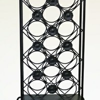 A.M.B. Furniture & Design :: Accessories :: Misc. Accessories :: 11 bottle Black metal finish standing wine rack