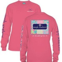 *Closeout* Simply Southern Long Sleeve Tees-PATCHWORK