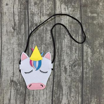 new arrival summer baby girls unicorn purse faux leather accessory matching fashion cute eyelash