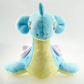 1pcs 27cm Pokemon Plush Toy Big Size Lapras Plush Game Character Soft Stuffed Animals Toys Doll Gift for Children Free Shipping