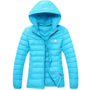 The North Face Men  2017 Brand New Ultralight Down Jacket Winter Outwear Zipper Thin Coat Blue