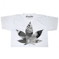Marijuana Tupac Crop Top