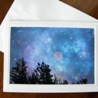 CELESTIAL SKY photographic art greeting card from PonsART $5.50