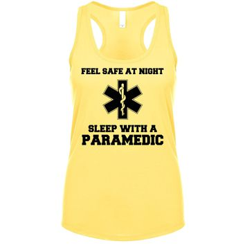 Feel Safe At Night Sleep With A Paramedic  Women's Tank