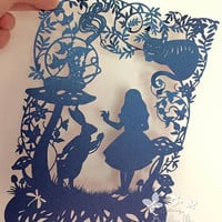 Alice Hand Finished Paper Cut