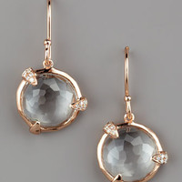Ippolita - Diamond-Detail Rose Drop Earrings, Small - Bergdorf Goodman