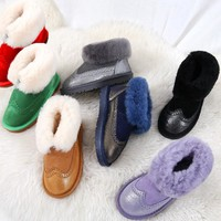 UGG fashion sells women's casual thick - soled snow boots in solid colors