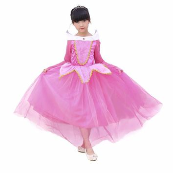 Girl Dress Sleeping Beauty Aurora Princess Full Sleeve for Kids Girls Party Dress Halloween Girls Cosplay Costume Party Clothes