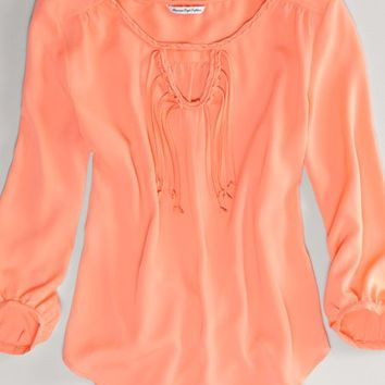 AEO Women's Braided Boho Top (Coral)