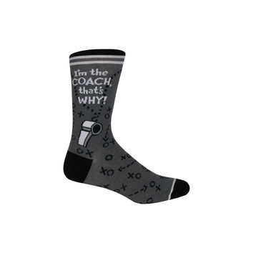 Coach Crew Socks in Gray
